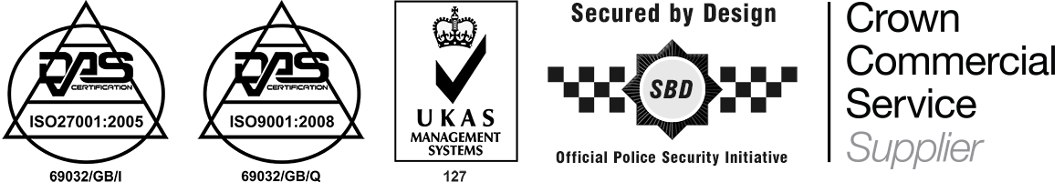 ISO 9001, ISO 27001, UKAS, Secured By Design, and Crown Commercial Supplier Accreditation